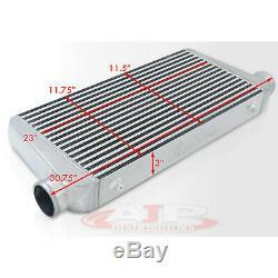 31x11.75x3 Big Bar Plate Racing Intercooler Turbo Chargeur Fmic Jdm Poli
