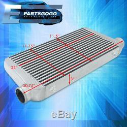 31x11.75x3 Poids Léger En Aluminium Bar Frontale Plate Intercooler Pour Universal