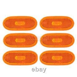 6 Côté Amber Orange Marker Lens Lamp Light Reflector For Mercedes Sprinter 0613