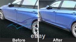 Aspect Brillant En Fibre De Carbone Jupes Side Car + Pare-choc Avant Lip Chin Spoilers Body Kit