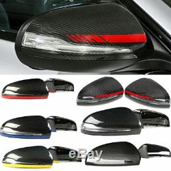 Capuchons De Miroir Latéraux De Pare-chocs Avant De Couverture De Miroir En Fibre De Carbone Véritable Pour Benz C B S Glc