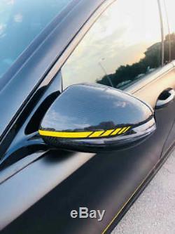 Capuchons De Miroir Latéraux De Pare-chocs Avant De Couverture De Miroir En Fibre De Carbone Véritable Pour Mercedes Benz