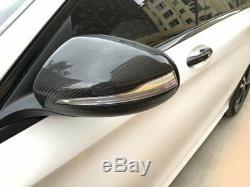 Capuchons Latéraux De Couverture De Miroir De Fibre De Carbone Pour Le Benz W205 X205 W222 W213 C63 S63 E63 Amg