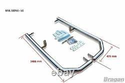 Corner Bar Arrière + Led Pour Mercedes Sprinter L4 14 18 Pare-chocs En Acier Inoxydable