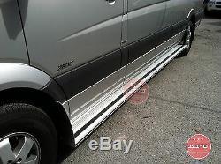 Fits Dodge Sprinter Mercedes Freightliner Van 144wb Aluminium Marchepieds Pair