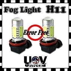 Free Error 2 X H11 6k Décodeur Cob Led Cree Conduite Antibrouillard Ampoule Canbus U2