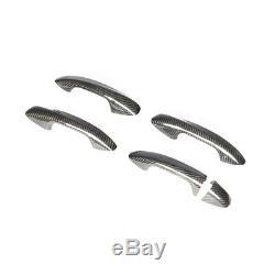 Garniture De Cache De Poignée De Porte En Fibre De Carbone Rhd Pour Mercedes-benz Classe C / E / S Glc Cls