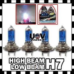 H7 5000k 100w Blanc Gaz Xénon Halogène Haut Bas Faisceau Combo Ampoules Phares