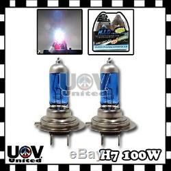 H7 5000k 100w Hyper Blanc Feux De Croisement Halogène Gaz Xénon Phares Ampoules U4