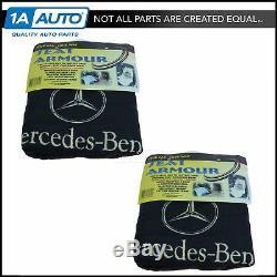 Housse De Siège En Tissu Éponge Noir Seat Armor W Logo Pour Mercedes Benz