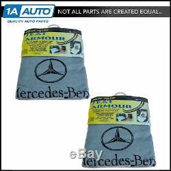 Housse De Siège Pour Siège Auto En Tissu Éponge Gris Avec Logo Pour Mercedes Benz Nouveau