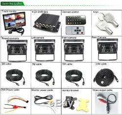 Kit Enregistreur Caméra Dvr Véhicule + 7 Écrans + 4x Caméra De Recul Arrière