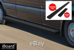 Marchepied Latéral Noir Satiné 5 Iboard Nerf Fit 10-19 Dodge / Mercedes-benz Sprinter