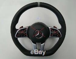 Mercedes Benz A220 C300 E300 G550 Alcantara Inlays Ergonomic Inlays Volant À Plat