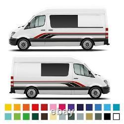 Mercedes Sprinter Campervan Côté Tribal Camper Stripe Graphics Décals