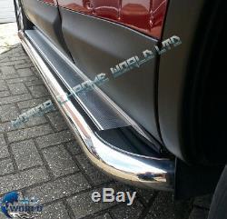 Mercedes Sprinter Fits Côté Barsrunning Boards 2007 Chrome + Partir Ss Moyen