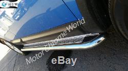 Mercedes Sprinter Fits Lwb Side Bars Boards 2007 Chrome + Partir Checker Plt