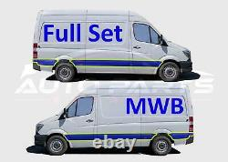 Mercedes Sprinter Mwb Plastic Protective Side Moulding Trim Full Set 2006 2018