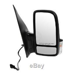 Miroir Noir Texturé Avec Effet De Chaleur Chauffant Droit Côté Passager Pour Sprinter 06-13