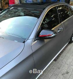 Miroir Réel Carbone Fibre Couverture Pare-chocs Avant Miroir De Côté Caps Pour Benz C B S Glc