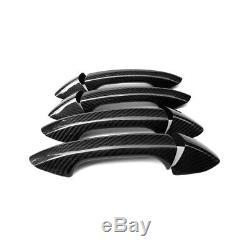 Poignée De Porte Automatique En Fibre De Carbone Couverture De Finition Pour Benz C / E / Glc / Cla / S Classe 4door
