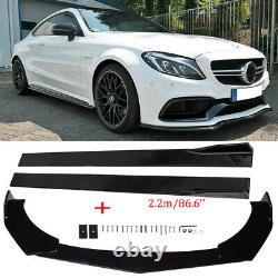 Pour Mercedes Benz Front Bumper Lip Spoiler Kit Pour Le Corps Du Spoiler + 86.6 Jupe Latérale