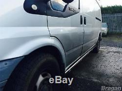 Pour S'adapter À 2014 Mercedes Sprinter Mwb 2 Barres Latérales En Acier Inoxydable Tubes Van