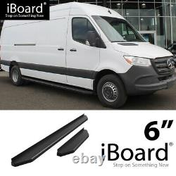 Satin Noir 6 Iboard Side Step Nerf Bar Fit 10-18 Dodge Mercedes-benz Sprinter