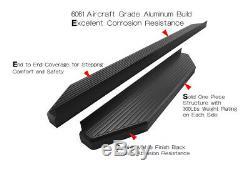 Satin Noir 6 Iboard Side Step Nerf Bar Fit 10-19 Dodge Mercedes-benz Sprinter