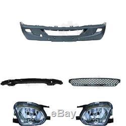 Set Pare-chocs Avant Noir Pdc + Fog Mercedes Sprinter 906 Année 06-13