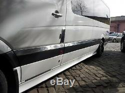 Sprinter W906 06-17 Streamer Chrome Pour Porte Latérale 10pc Extra Long / Roue Chromée