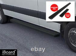 Stain Black 5 Iboard Side Step Nerf Fit 10-21 Dodge Mercedes-benz Sprinter