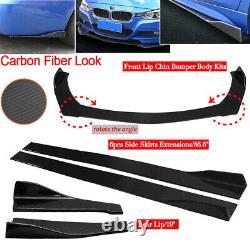 Universal Carbon Fiber Look Car Front Bumper Lip Splitter Side Skirt Lèvre Arrière