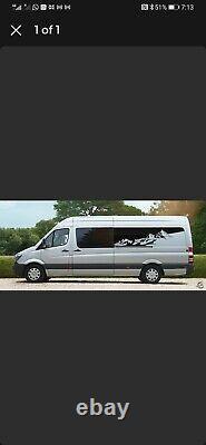 Vw Crafter/mercedes Sprinter Side Recess Campervan Vinyl Decal Lwb