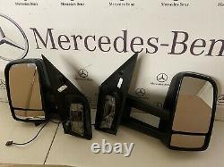 X2 Véritable Mercedes Sprinter Manuel Long Arm Mirrors Gauche Et Droite. Ajustement 2006.2018
